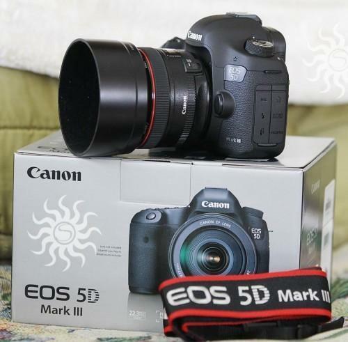 Canon EOS 5D Mark III avec objectif EF 24-105 mm IS